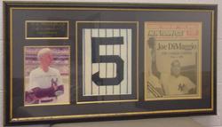 Joe DiMaggio framed collection