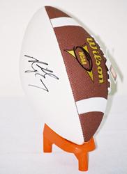 Michael Vick autographed football